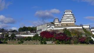 Himeji Castle, a hilltop Japanese castle complex located in Himeji, Hyogo Prefecture, Kansai, Japan, Asia. Asian monument, landmark, building, UNESCO World Heritage Site