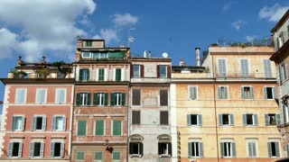 Homes Buildings In Trastevere Square Rome Roma Italy Italia