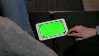 Ipad Digital Tablet Computer Green Screen Monitor Internet Social Media