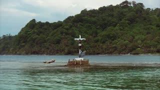 Isla Grande Panama Central America View Of Christ Statue