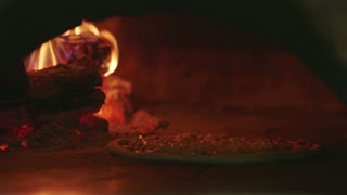 Italy Food Pizza Cooking Restaurant Kitchen Wood Oven Fire