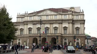 La Scala Opera House Theater Theatre Monument Landmark Milan Italy