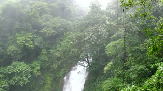 Lagoon Waterfall Forest Jungle Tenorio Volcano National Park Costa Rica