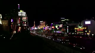Las Vegas, Nevada, NV, United States of America, USA, US with hotels, resorts, casino, traffic, cars. Sequence