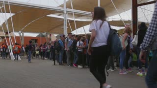 Milan Expo 2015 Italy International Exposition Visitors People Waiting Line
