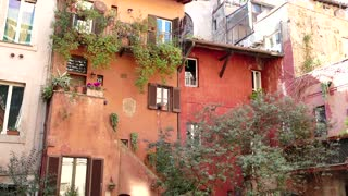 Old Traditional Picturesque Homes In Rome Roma Italy Italia