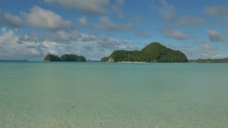 Palau, Micronesia, Oceania, Pacific Ocean. International travel in lagoon water with islands, atolls, archipelago, corals. Sea, nature, landscape, travel, dream tropics, tropical paradise