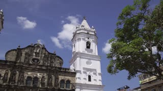 Panama City Time Lapse Cathedral In Plaza Mayor Casco Antiguo