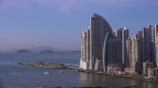 Panama City Trump Tower Hotel And Artificial Amador Islands 4K