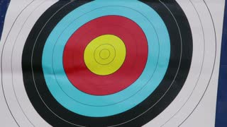 People shooting arrows, bow, archery, people, sport, target, bullseye, bull's-eye. Symbol of victory, achievement, success