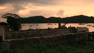Portobelo Panama Fort Fuerte Santiago and artillery cannons