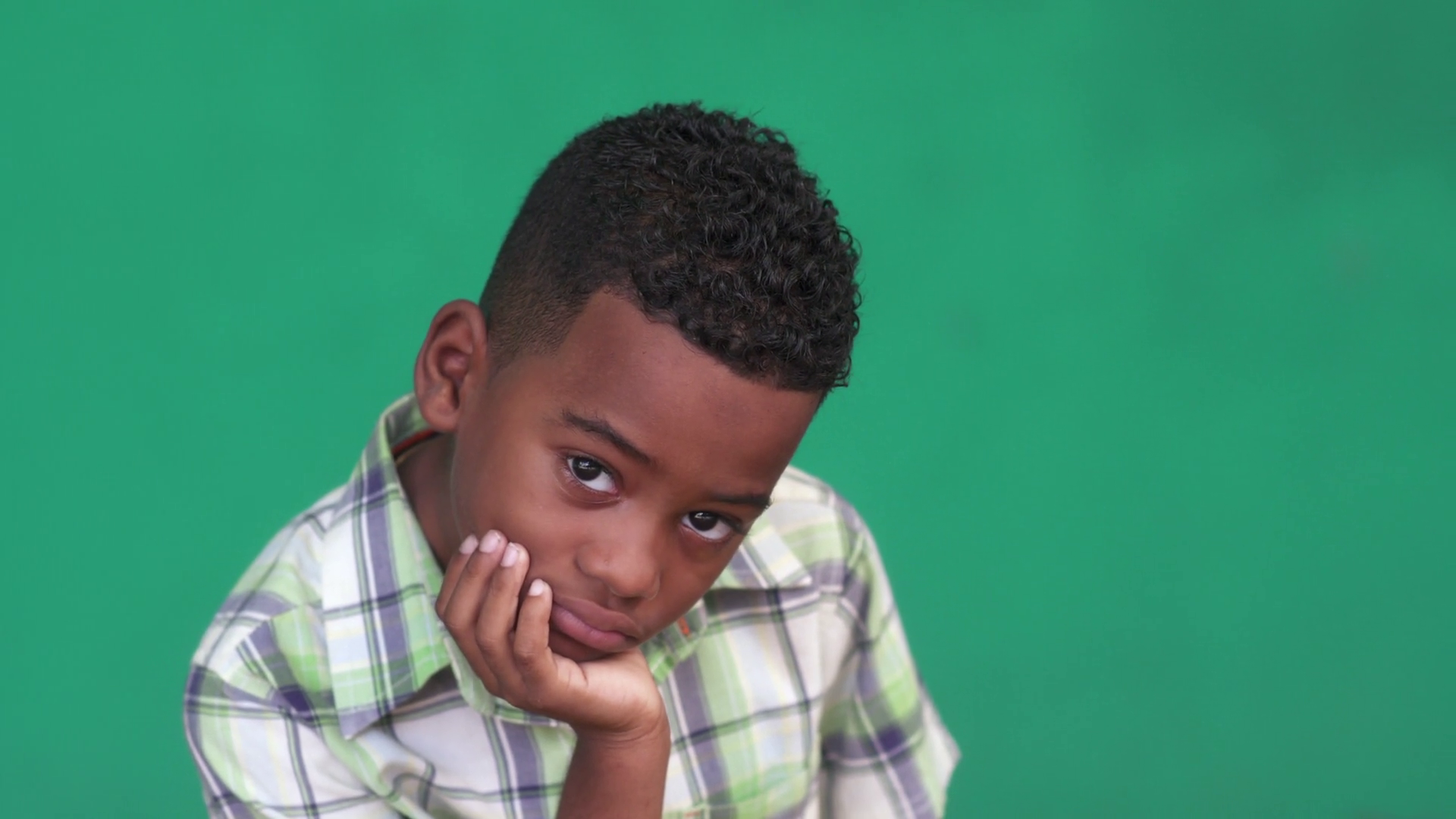 Portrait of sad children with emotions and feelings. Worried hispanic or black young boy looking at camera, male child with depressed expression on face. Close-up, copy space Stock Video Footage - Storyblocks