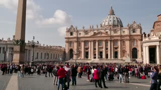 Saint Peter Basilica Square Vatican Rome Roma Italy Italia Tourists