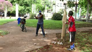 Seniors Old Elderly Friends People Cuban Men Training Baseball Cuba