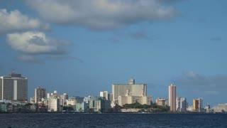 Skyline Of Havana La Habana Cuba With Caribbean Sea