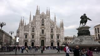Statue Piazza Duomo Square Cathedral Monument Milan Milano Italy Italia