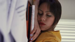 Student Sleeping On Books Wakes Up Late For School