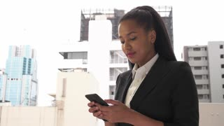 Text Messaging Manager Businesswoman Business Woman On Smartphone Internet Email