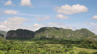 Timelapse Of Sky Nature And Cuban Landscape In Vinales Cuba