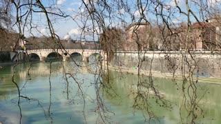 Urban View River Tiber Rome Roma Italia Italy Landscape City