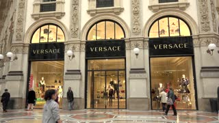 Versace Shop Store Italian Fashion Shopping Milan Milano Italy Italia