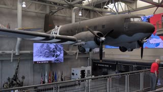 Airplanes and guns the National WWII Museum in New Orleans, Louisiana, United States of America