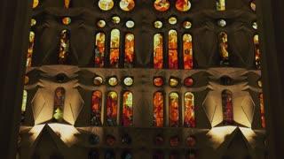 Architectural Details Inside Sagrada Familia Church Barcelona