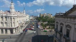 Buildings Cuban Landscape Old Havana Drone Flying In Sky