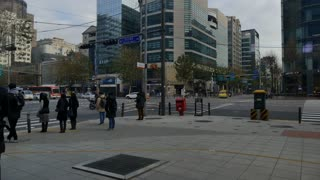 Cars Traffic People In Gangnam Seoul South Korea Asia Timelapse