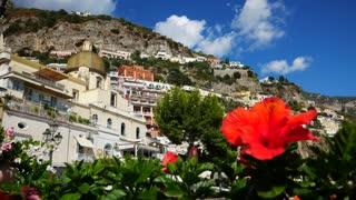 Church In Positano Along Amalfi Coast Italy