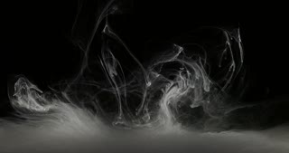 Concept Art White Paint In Water As Smoke In Slowmotion