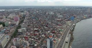 Havana Cuba Aerial View Cuban City Landscape Caribbean Sea