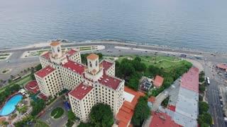 Hotel Nacional Cuban Malecon Promenade Caribbean Sea Havana Cuba