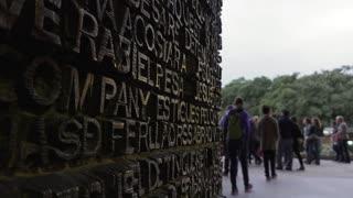 Inscriptions On Door Of Sagrada Familia Barcelona Spain