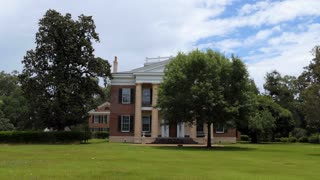 Melrose Plantation in Natchez, Mississippi, United States of America. Old mansion and estate in the US National Register of Historic Places