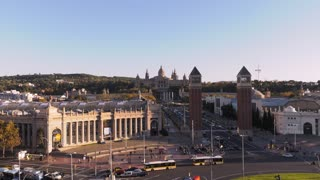 Placa Espanya And Museu Nacional De Art In Barcelona Spain