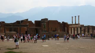 Ruined City Of Pompeii Near Naples Italy