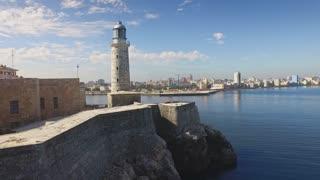 Sky View Morro Castle Caribbean Sea Havana City Cuba