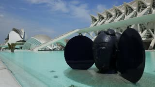 Statue In City Of Arts And Sciences Valencia Spain