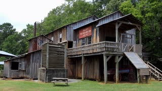 The Mississippi Agriculture & Forestry Museum in Jackson, Mississippi, United States. The Bisland Cotton Gin, reconstructed with the 1920s architectural features of the original building