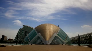 Timelapse Building City Of Arts And Sciences Valencia Spain