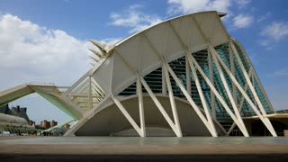Timelapse City Of Arts And Sciences In Valencia