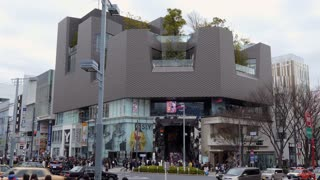 Tokyu Plaza, mall in Omotesando street, Tokyo, Japan, Asia with fashion shops and stores. Shopping center for tourists and residents