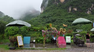 Tourist spot, stage and scenery for souvenir pictures near Moon Hill in Yangshuo, Guangxi, China, Asia. Asian travel