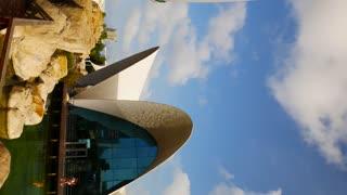 Vertical View Oceanografic City Of Arts And Sciences Valencia