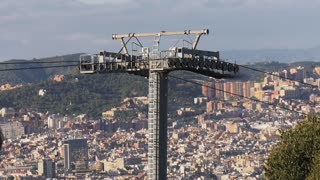 View Of The Teleferic De Montjuic Barcelona Spain