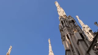 View of Milan city, Duomo cathedral, buildings and architecture, Italy 3