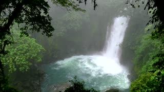 Waterfall Lagoon Rainforest Jungle Tenorio Volcano National Park Costa Rica