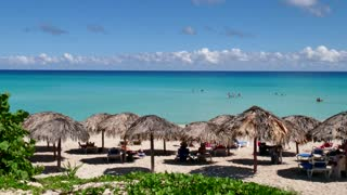 White Sand Beach Tropical Ocean Caribbean Sea Cuban Holidays Cuba