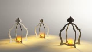3D Muslim  Oil Lamp , Ramadan